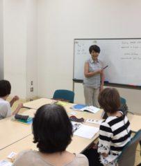 暑さに負けず出張英語講座に行ってきました。